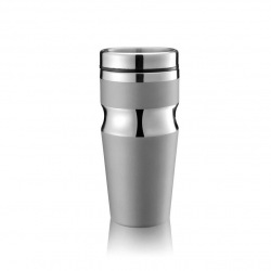 Termohrnek Contour, 350 ml, XD Design, stříbrný