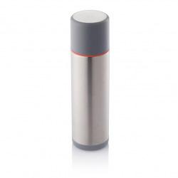 Termoska Torre, 500ml, XD Design, šedá/červený proužek