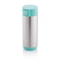 Uzamykatelný termohrnek Lock, 250 ml, XD Design, tyrkysový/šedý