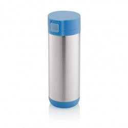 Uzamykatelný termohrnek Lock, 250 ml, XD Design, modrý/šedý