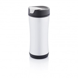 Recyklovatelný termohrnek Boom ECO, 225 ml, XD Design, černý/šedý