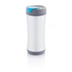 Recyklovatelný termohrnek Boom ECO, 225 ml, XD Design, šedý/modrý