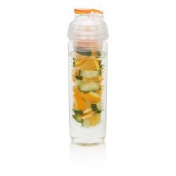 Loooqs, 500 ml, láhev s košíkem na ovoce, oranžová