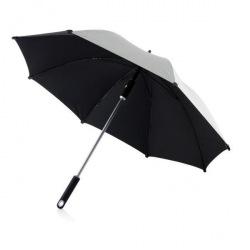 XD Design, Hurricane Max, deštník 58.5 cm, stříbrná