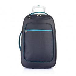 XD Design, Milano 2, příruční zavazadlo na kolečkách, modrá, 58 x 36 x 22 cm
