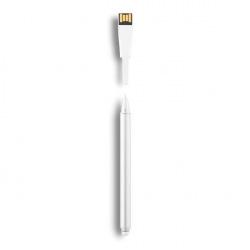XD Design, Point-01, dotykové pero s USB 4GB, bílá