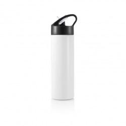 Sportovní láhev s brčkem Sport, 500 ml, XD Design, bílá/černá