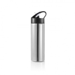 XD Design, Sport, láhev s brčkem, 500 ml, stříbrná