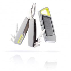 Set multifunkčních kleští a solární svítilny Tovo Set, XD Design, šedý