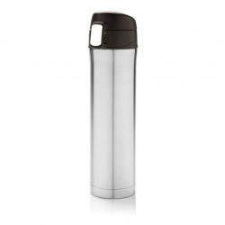 Uzamykatelná termoska Easy, 450 ml, Loooqs, stříbrná