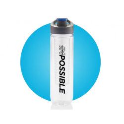 Láhev s košíkem na ovoce Impossible, 800 ml, Loooqs, čirá/šedá/modrá
