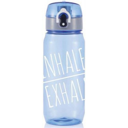 Sportovní láhev Inhale Exhale, 600 ml, Loooqs, modrá