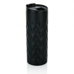 Geometrický termohrnek, 350 ml, Loooqs, černý