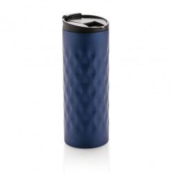 Geometrický termohrnek, 350 ml, Loooqs, modrý