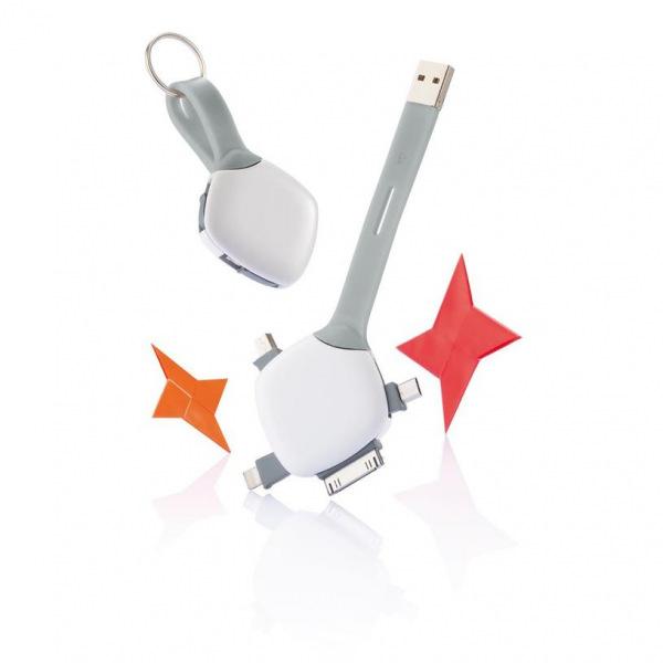 XD Design, Quatro, USB propojovací kabel se 4 konektory, P302.023