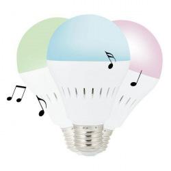Chytrá LED žárovka s barevným světlem a bluetooth reproduktorem, Loooqs