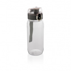 Láhev na vodu s uzamykatelným víčkem, 600 ml, Loooqs, čirá
