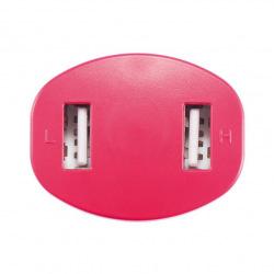 Loooqs, Nabíječka do auta se dvěma USB vstupy, červená
