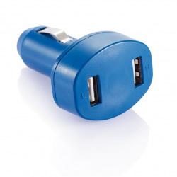 Nabíječka do auta se dvěma USB vstupy, Loooqs, modrá