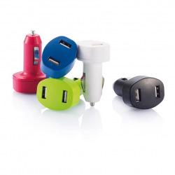 Loooqs, Nabíječka do auta se dvěma USB vstupy, modrá
