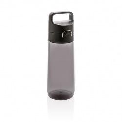 Láhev na vodu s uzamykatelným víčkem, 600 ml, XD Xclusive, černá