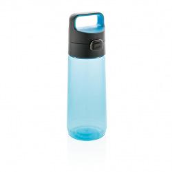 Láhev na vodu s uzamykatelným víčkem, 600 ml, XD Xclusive, modrá