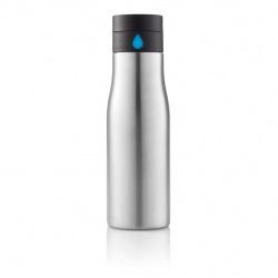 Láhev na vodu z nerezové oceli, XD Design, stříbrná