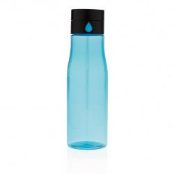 Láhev na sledování pitného režimu Aqua, modrá