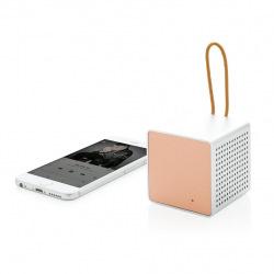 Stylový bezdrátový 3W reproduktor Vibe, XD Design, růžový