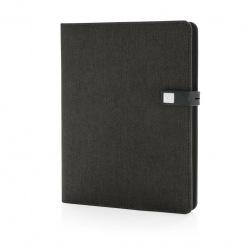 Chytrý organizér s blokem A5, vestavěnou powerbankou a USB Kyoto, XD Design, černý