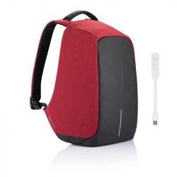 """Batoh na notebook, který nelze vykrást Bobby, 15,6"""", XD Design, červený"""