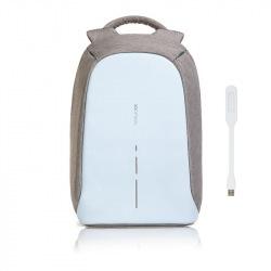 """Městský batoh, který nelze vykrást Bobby, 14"""", XD Design, pastelově modrý"""