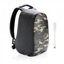 """Městský batoh, který nelze vykrást Bobby, 14"""", XD Design, camouflage green"""