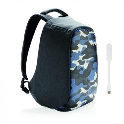 """Městský batoh, který nelze vykrást Bobby, 14"""", XD Design, camouflage blue"""