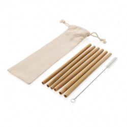 Sada bambusových brček - 6 ks, XD Design