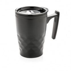 Geometrický termohrnek s ouškem, XD Design, černý