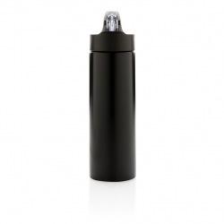 Sportovní láhev s brčkem Sport, 500 ml, XD Design, černá