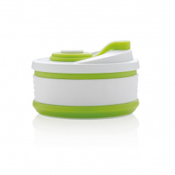 Skládací silikonový hrnek, XD Design, zelený/bílý