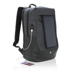 """Swiss Peak, batoh na notebook se solárním panelem, 15,6"""", P762.121, černý"""