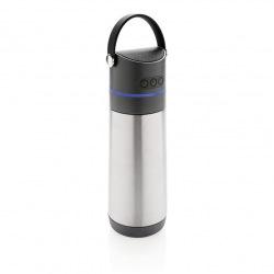 XD Design, Termoska s reproduktorem Party , 500 ml, stříbrná