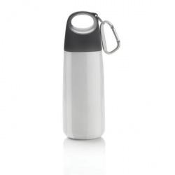 Termolahev s karabinou Bopp Mini, 350 ml, XD Design, bílá/šedá