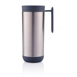 XD Design, Clik, nepropustný termohrnek s madlem, 225 ml, stříbrná