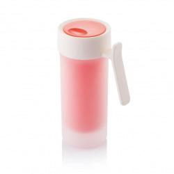 Cestovní termohrnek s ouškem Pop, 275 ml, XD Design, červený